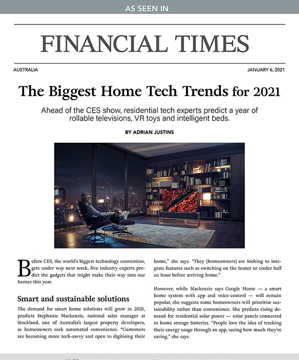 The Biggest Home Tech Trends For 2021